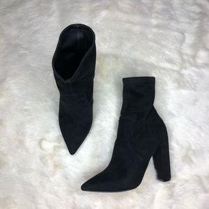 ASOS Elba Wide Fit Sock Boots in Black